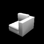 1er Sofa rechts für die 3D Raumplanung