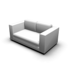 2er Sofa für die 3D Raumplanung