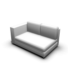 2er Sofa links für die 3D Raumplanung