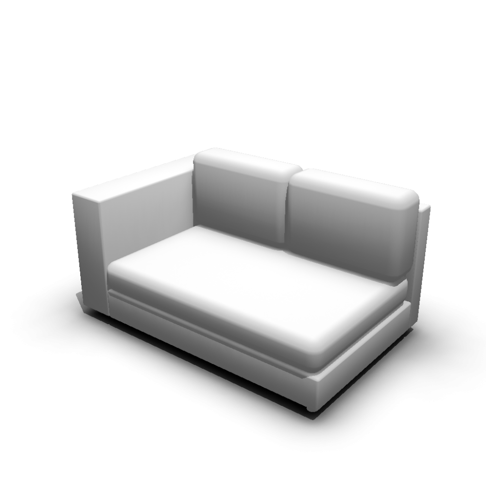 2er sofa links einrichten planen in 3d. Black Bedroom Furniture Sets. Home Design Ideas