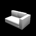 2er Sofa rechts für die 3D Raumplanung