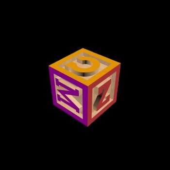 Holzbuchstabenwürfel