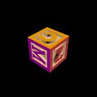 Holzbuchstabenwürfel für die 3D Raumplanung