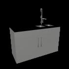 Barmodul mit Spülbecken für die 3D Raumplanung