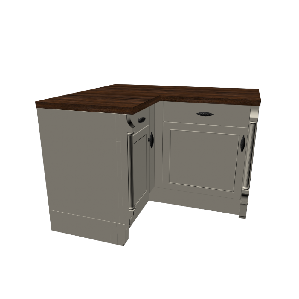 Corner Kitchen Sink Base Unit : base cabinet corner unit kitchens start 3d room design dimension ...