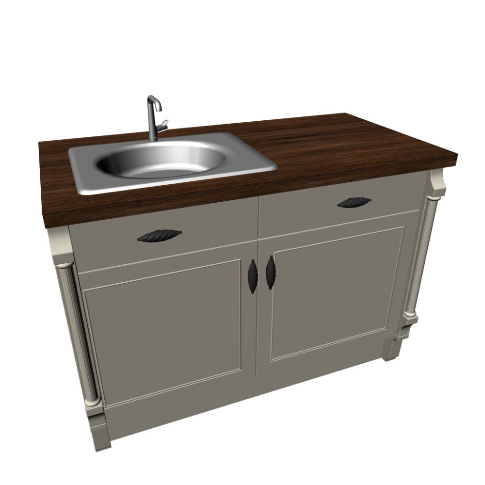Base Cabinet With Sink Kitchens Start 3d Room Design Dimension 1222mm