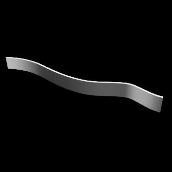 Bauelement Welle weiß ohne Struktur
