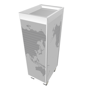 silver edition worldmap black by bordbar design