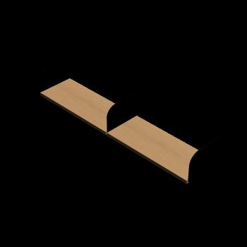 Bücherregal mit Seitenhalt