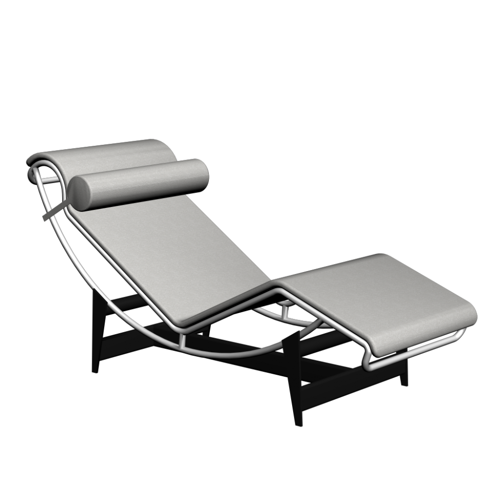 Lc4 chaise longue design and decorate your room in 3d - 4 pieds 4 chaises givors ...