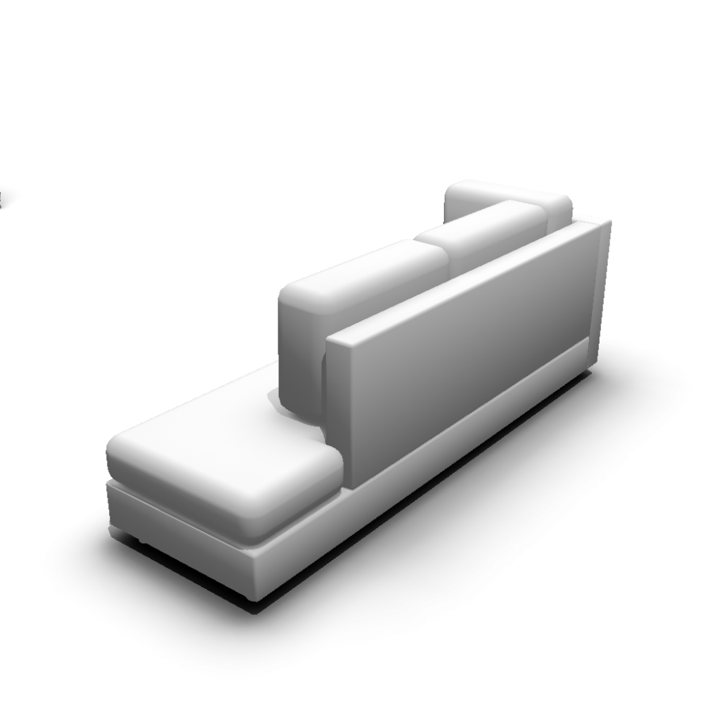 Chaise longue long version right hand design and for Chaise 3d dessin
