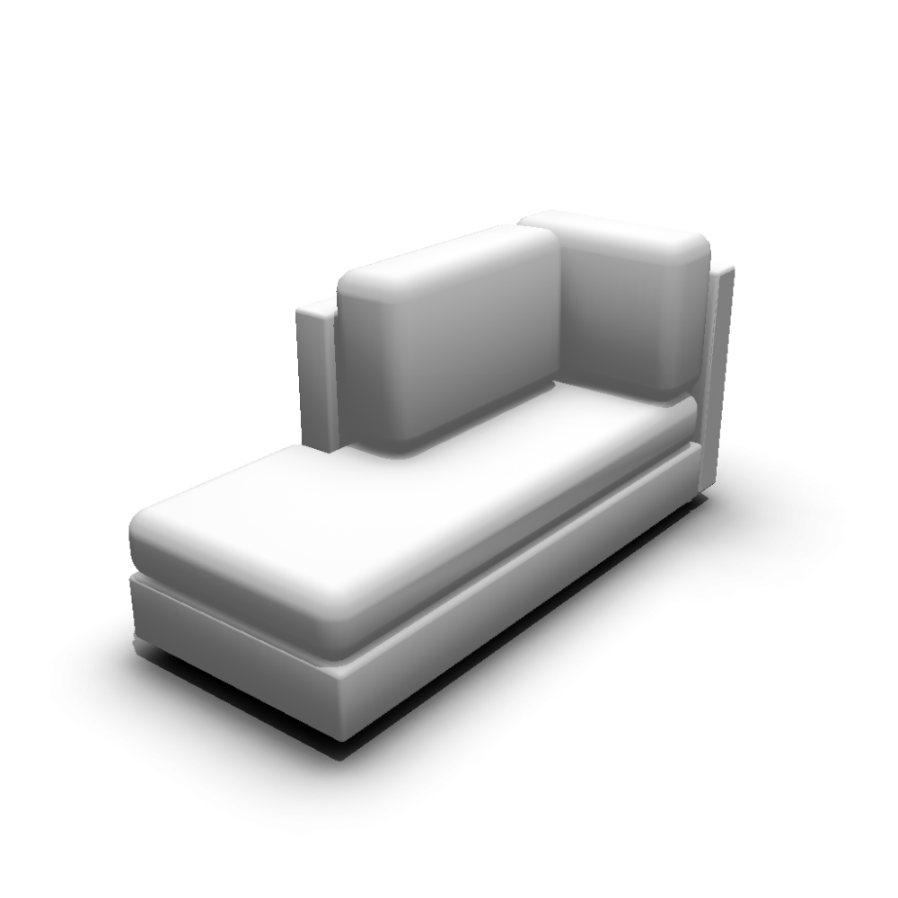 Chaise longue left hand design and decorate your room in 3d for Dimension chaise longue