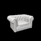 Chesterfield Sessel für die 3D Raumplanung