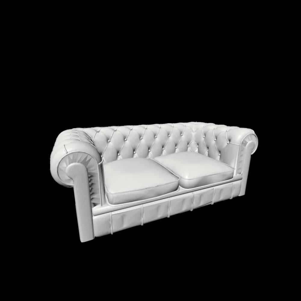 Chesterfield 2er Sofa Einrichten & Planen in 3D