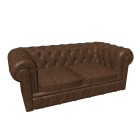 Chesterfield 2er Sofa für die 3D Raumplanung