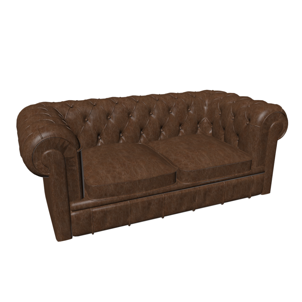 Chesterfield 2er Sofa Design and Decorate Your Room in 3D