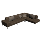 Corner couch for your 3d room design