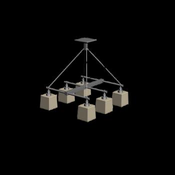 Deckenlampe Sechsflammer