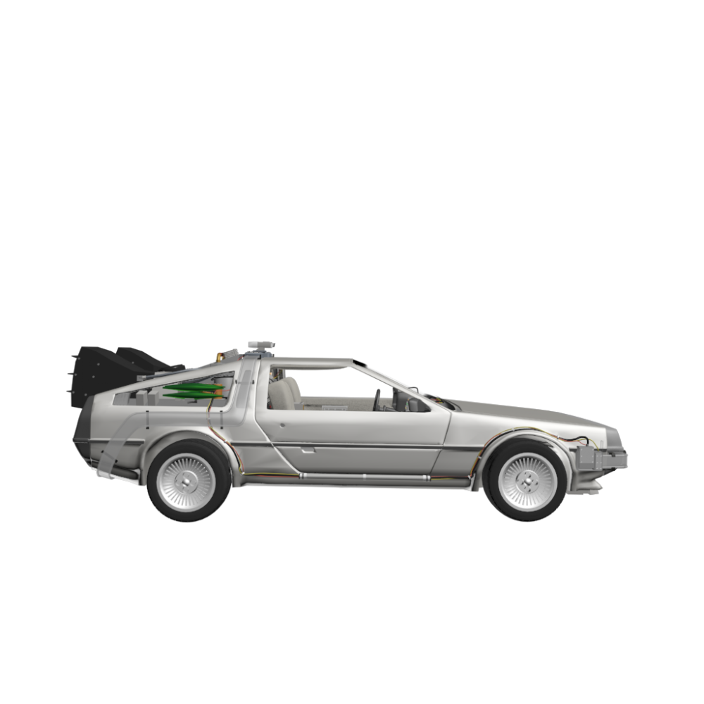 delorean dmc 12   design and decorate your room in 3d