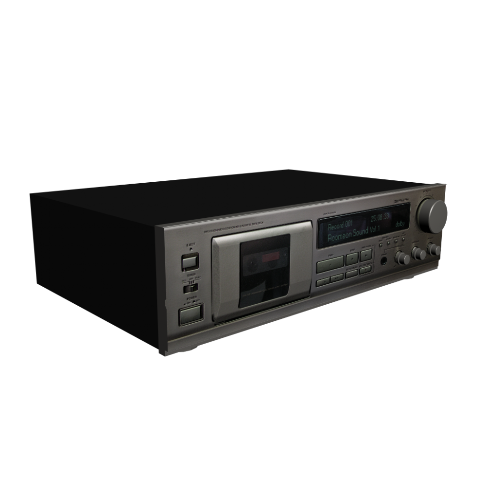 Denon Drm 550 Cassette Deck Design And Decorate Your Room In 3d