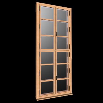 Doppelfenster hoch