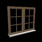 Doppelfenster mit Fensterkreuz für die 3D Raumplanung