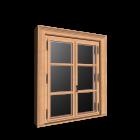 Doppelfenster mit Dekorrahmen für die 3D Raumplanung