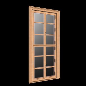 Doppelfenster mit Dekorrahmen hoch