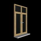 Doppelfenster mit Oberlicht für die 3D Raumplanung
