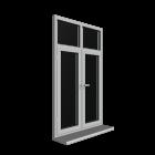 Doppelfenster mit Oberlicht