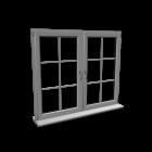 Double window with glazing bar
