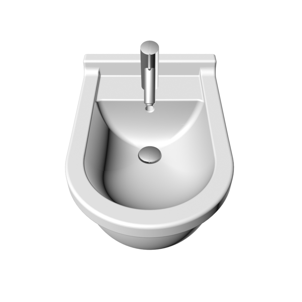 Starck 3 Bidet Wall Mounted With Overflow With Tap Platform