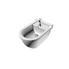 Starck 3 Bidet wall mounted with overflow, with tap platform by DURAVIT