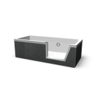 Step-in Pure bath tub right for your 3d room design