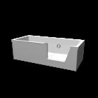 Step-in Pure Kombiwanne rechts für die 3D Raumplanung