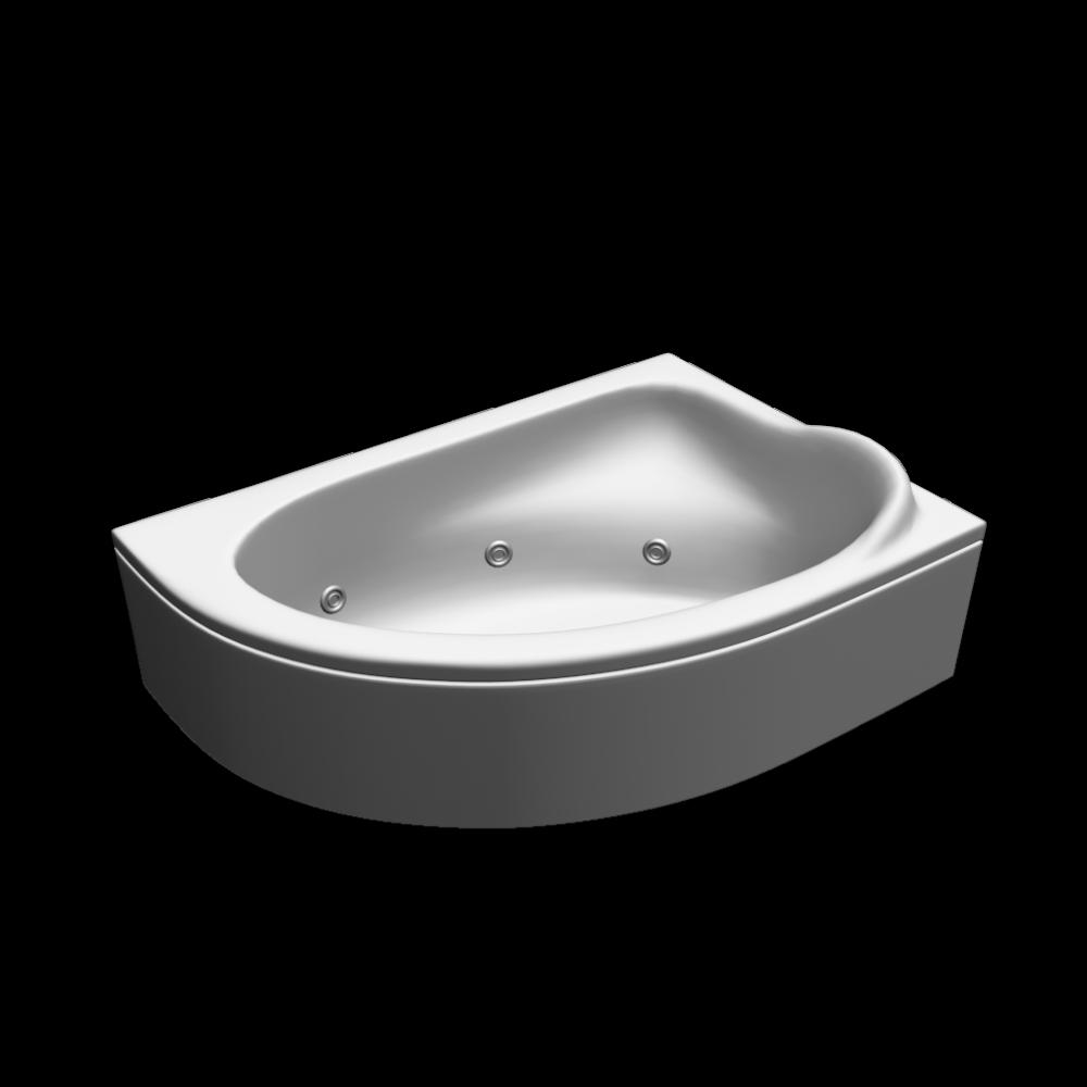 Eckbadewanne - Einrichten & Planen in 3D