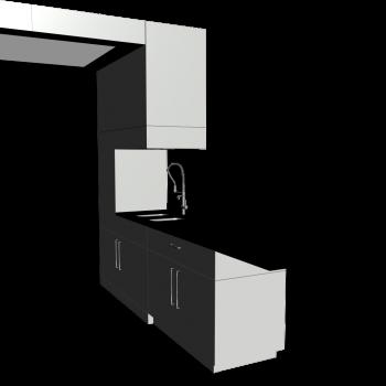 einbauk che einzelmodule einrichten planen in 3d. Black Bedroom Furniture Sets. Home Design Ideas