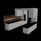 Einbauküche + Einzelmodule für die 3D Raumplanung