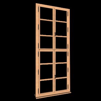 Einfachsprossenfenster hoch