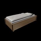 Einzelbett für die 3D Raumplanung