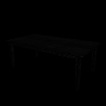 Esstisch in schwarz