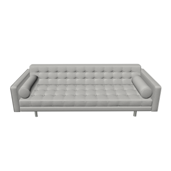 3-Seater Sofa Chelsea Leather by Fashion For Home