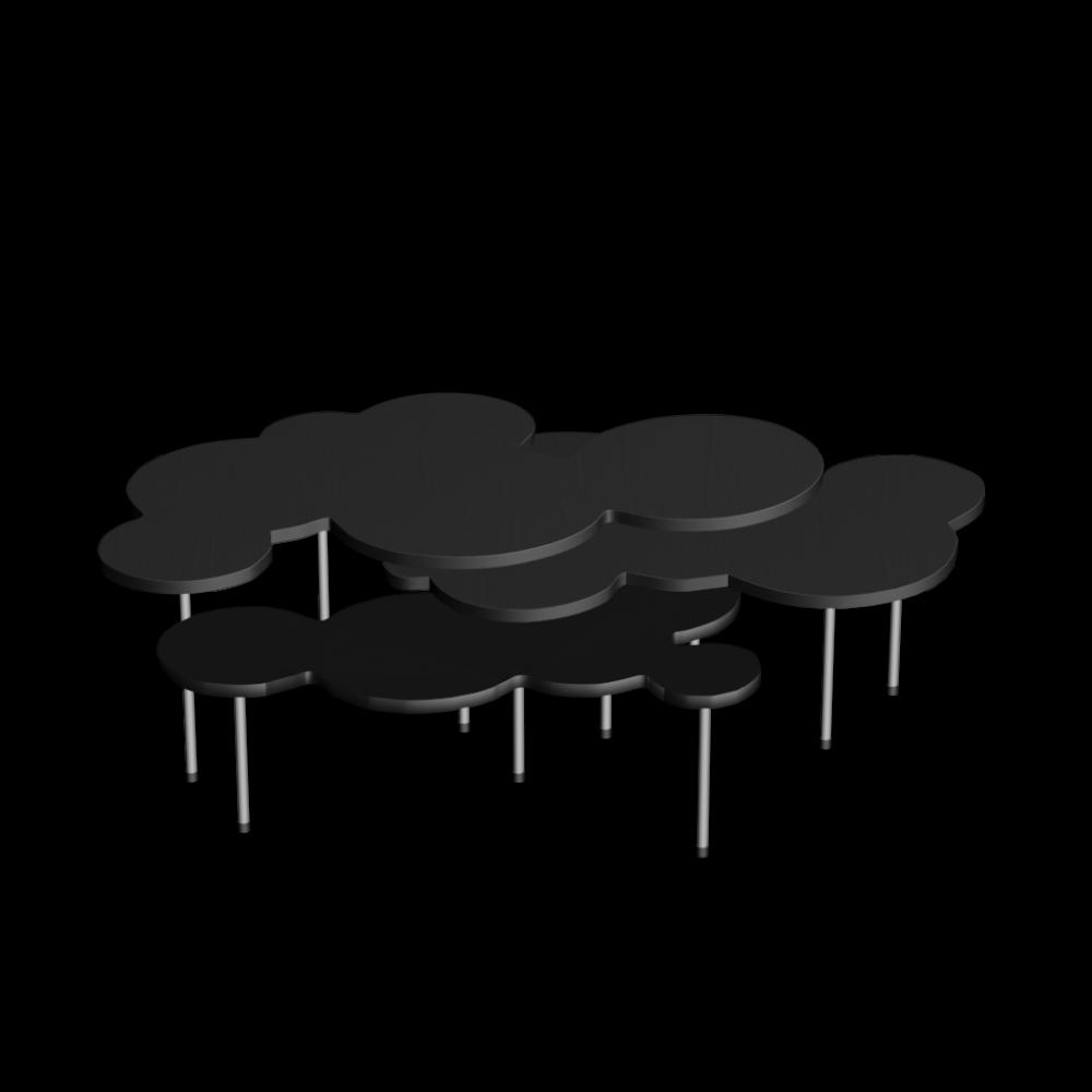 Couchtisch set clouds einrichten planen in 3d for Couchtisch set