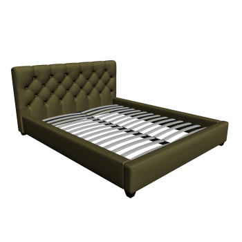 Grand Premium Green 160x200 cm Bed by Fashion For Home