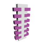 Schuhregal Shoe Tree Set T Weiß-Violett für die 3D Raumplanung