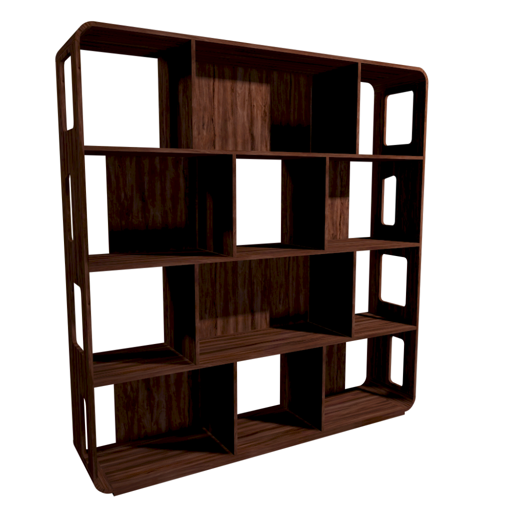 swift walnut shelving unit l design and decorate your room in 3d. Black Bedroom Furniture Sets. Home Design Ideas