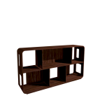 Swift Walnut Shelving Unit (S) for your 3d room design