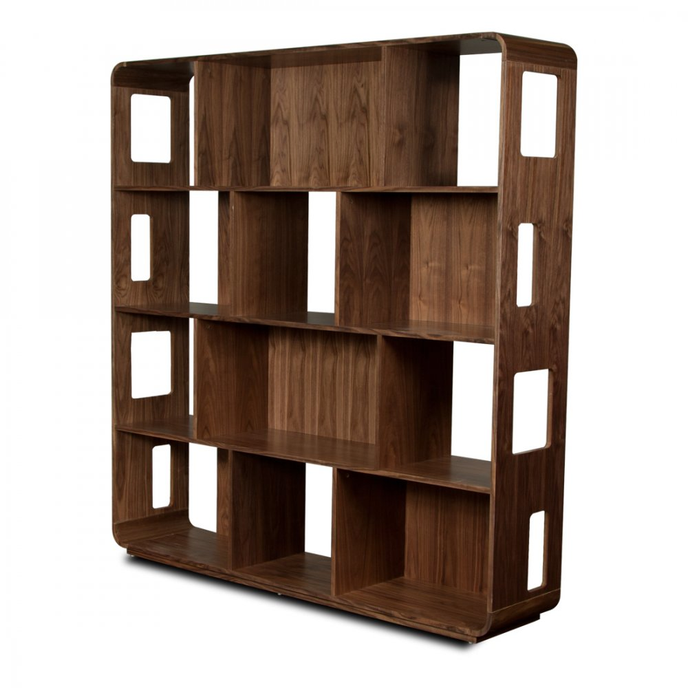 swift walnut shelving unit l design and decorate your. Black Bedroom Furniture Sets. Home Design Ideas