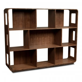 Swift Walnut Shelving Unit (M) by Fashion For Home