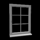 Fenster mit Fensterkreuz für die 3D Raumplanung